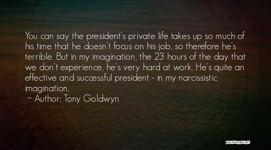 Focus And Hard Work Quotes By Tony Goldwyn