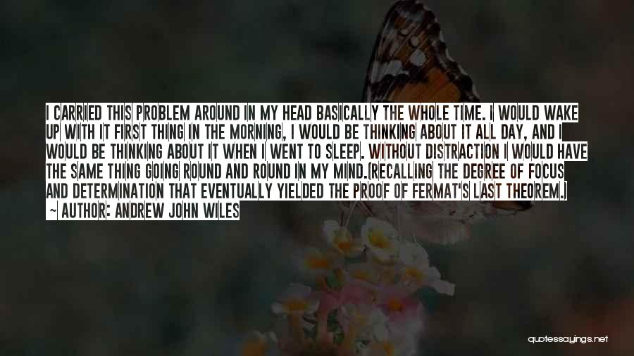 Focus Quotes By Andrew John Wiles