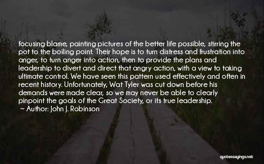 Focusing On Goals Quotes By John J. Robinson