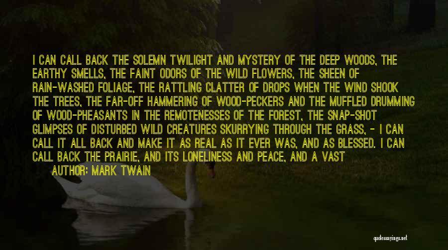Foliage Quotes By Mark Twain