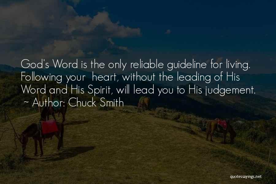 Following God's Word Quotes By Chuck Smith