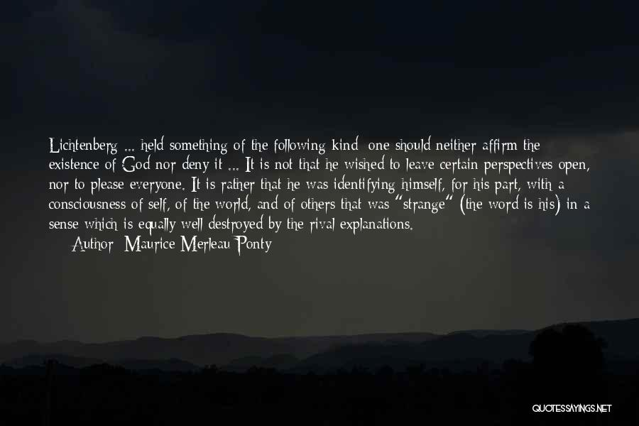 Following God's Word Quotes By Maurice Merleau Ponty