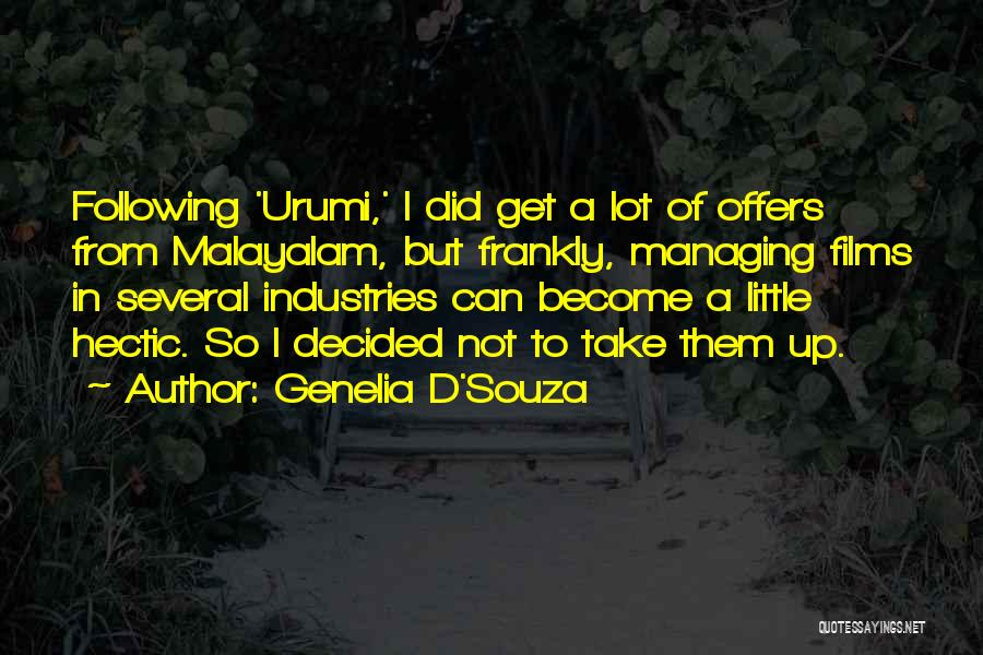 Following Up Quotes By Genelia D'Souza