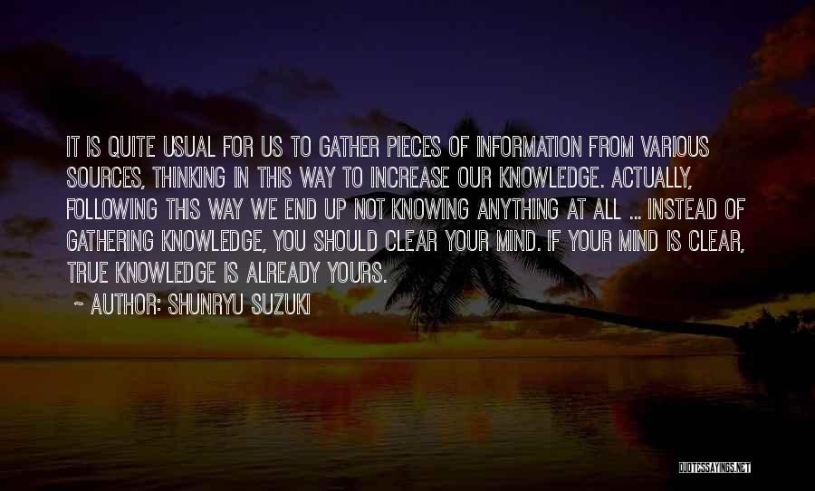 Following Up Quotes By Shunryu Suzuki