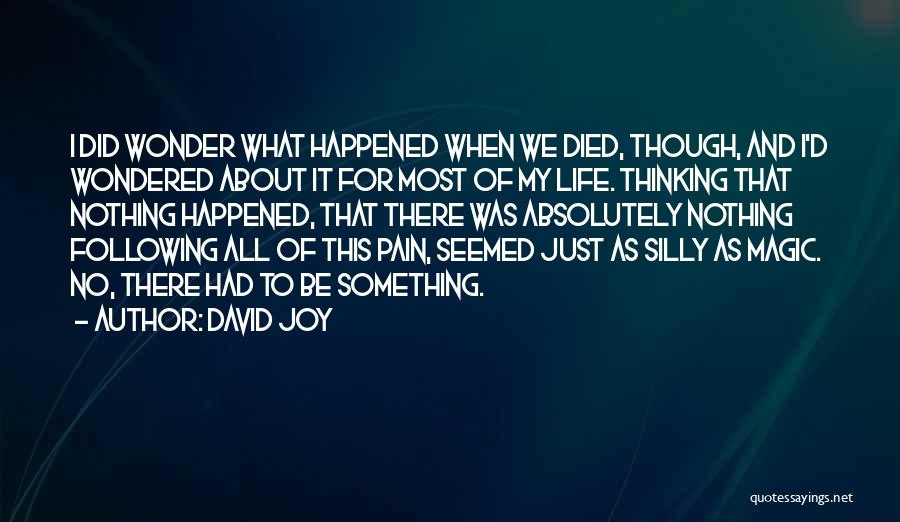 Following Your Joy Quotes By David Joy