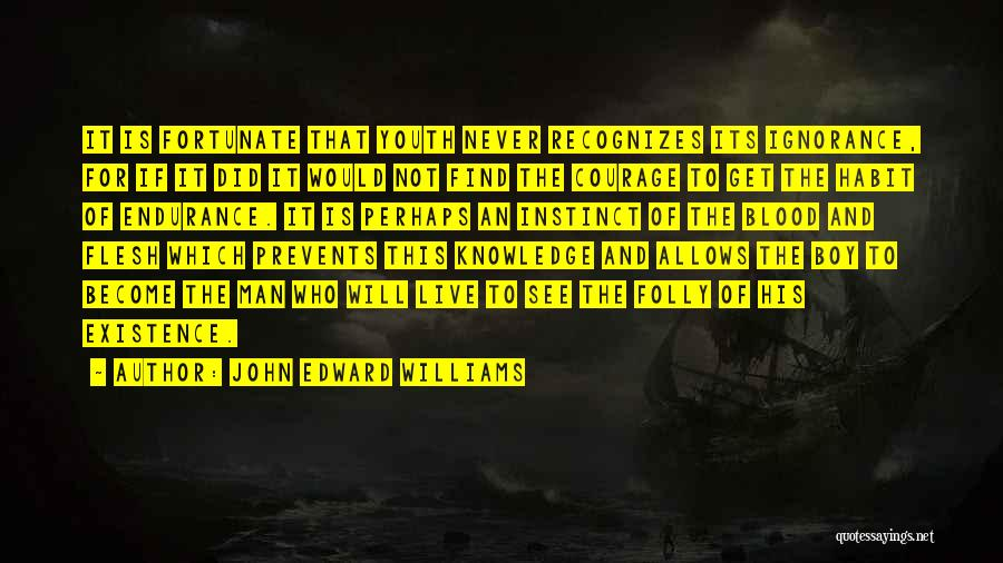 Folly Of Youth Quotes By John Edward Williams