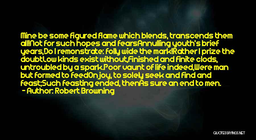 Folly Of Youth Quotes By Robert Browning
