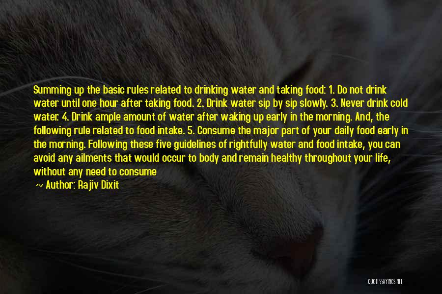 Food And Drink Related Quotes By Rajiv Dixit