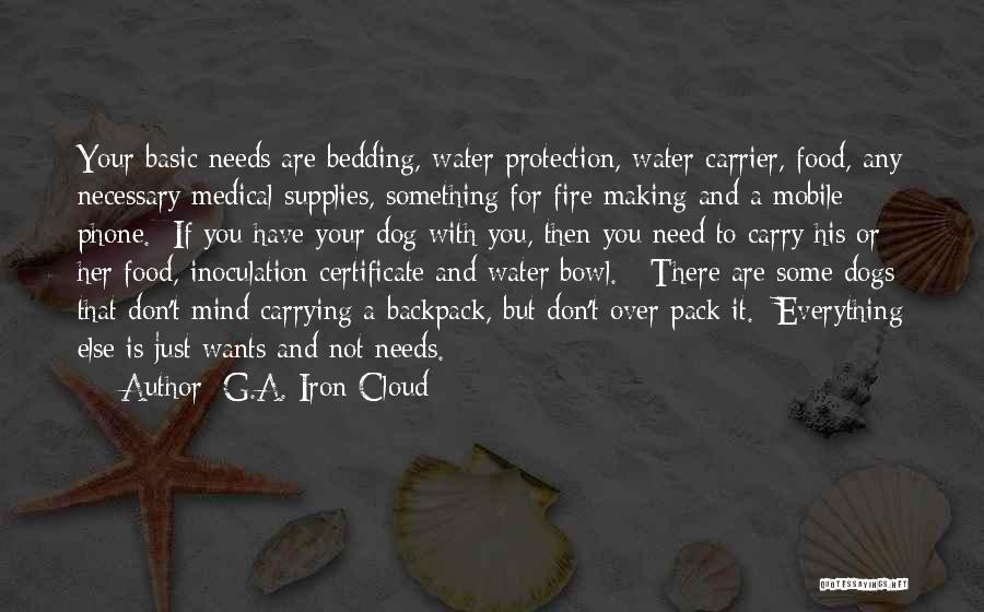 Food Is Everything Quotes By G.A. Iron Cloud