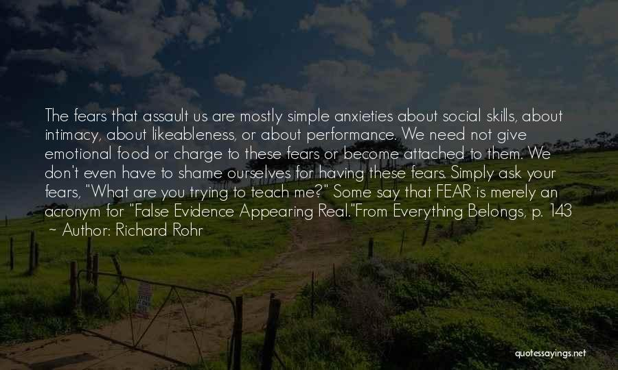 Food Is Everything Quotes By Richard Rohr