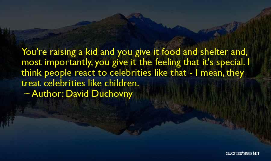 Food Treat Quotes By David Duchovny