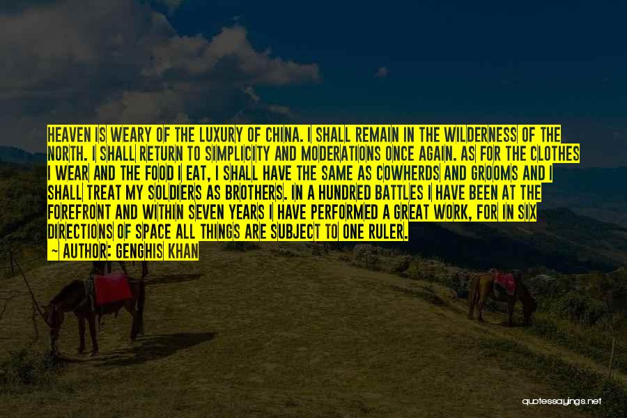 Food Treat Quotes By Genghis Khan