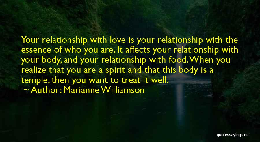 Food Treat Quotes By Marianne Williamson