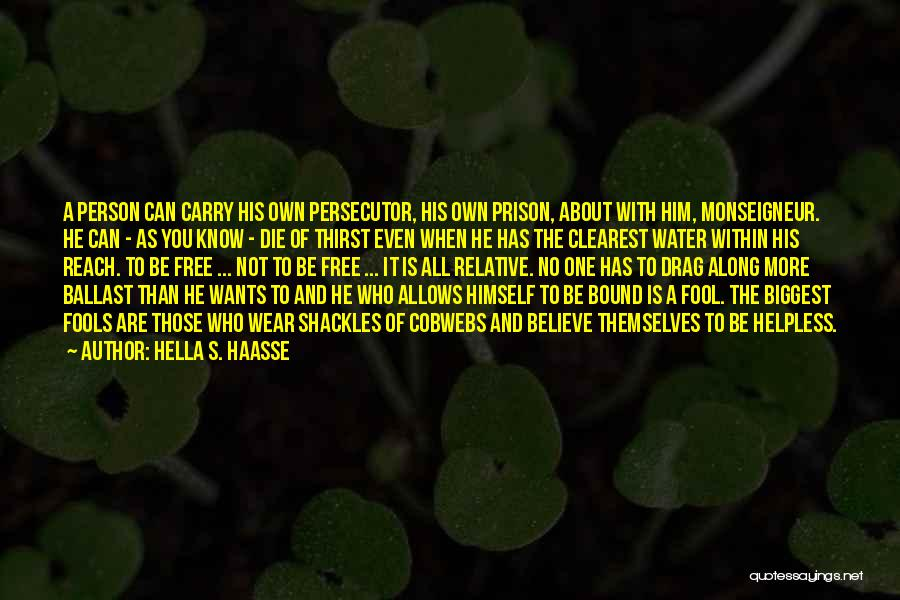 Fool To Believe Quotes By Hella S. Haasse