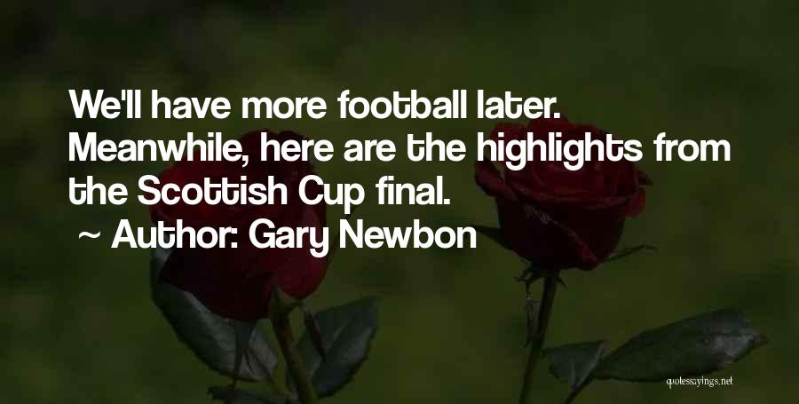 Football Final Quotes By Gary Newbon