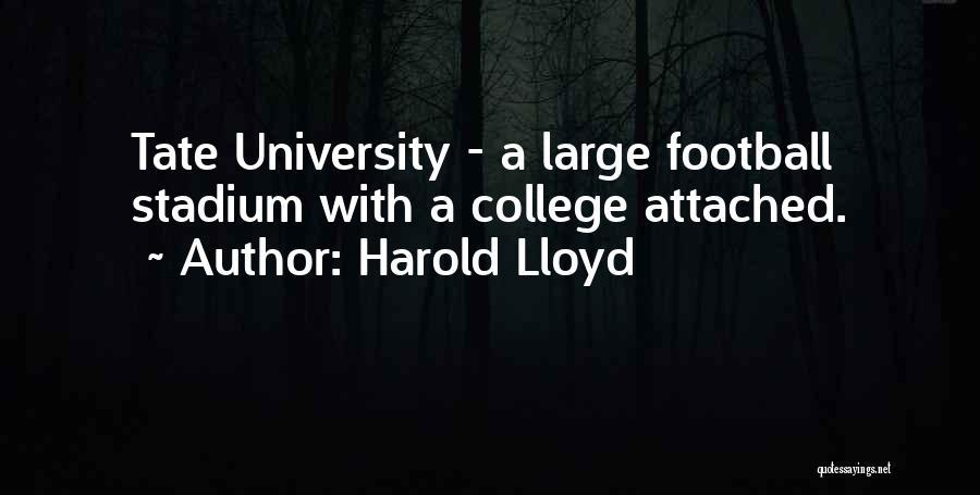 Football Stadium Quotes By Harold Lloyd