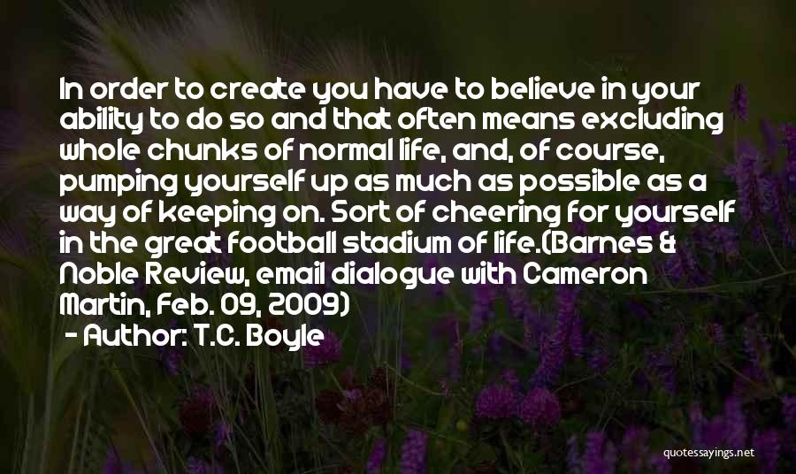 Football Stadium Quotes By T.C. Boyle