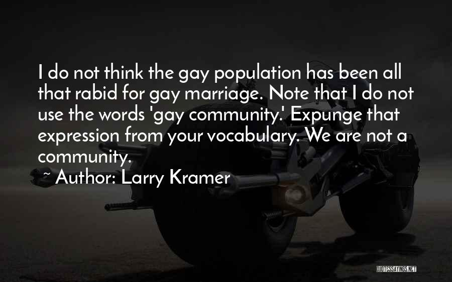 For Gay Marriage Quotes By Larry Kramer
