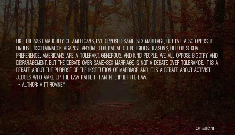 For Gay Marriage Quotes By Mitt Romney
