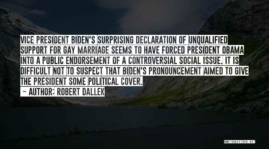 For Gay Marriage Quotes By Robert Dallek