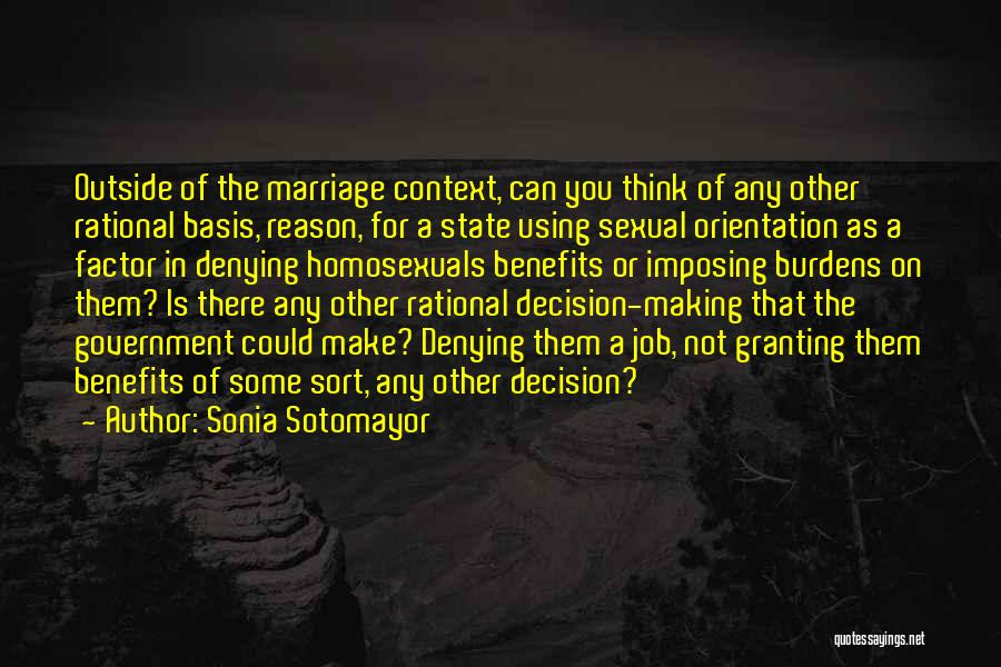 For Gay Marriage Quotes By Sonia Sotomayor