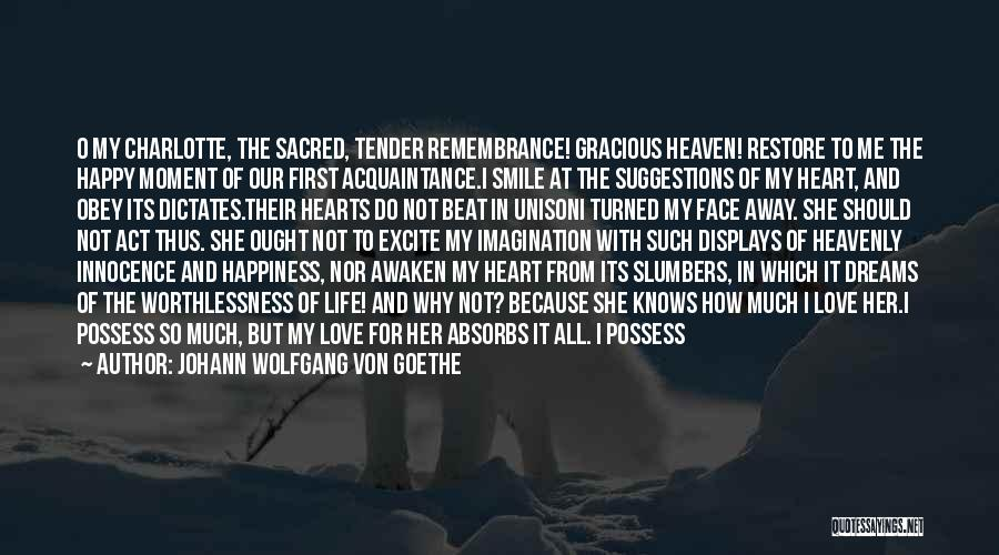 For Her Happiness Quotes By Johann Wolfgang Von Goethe