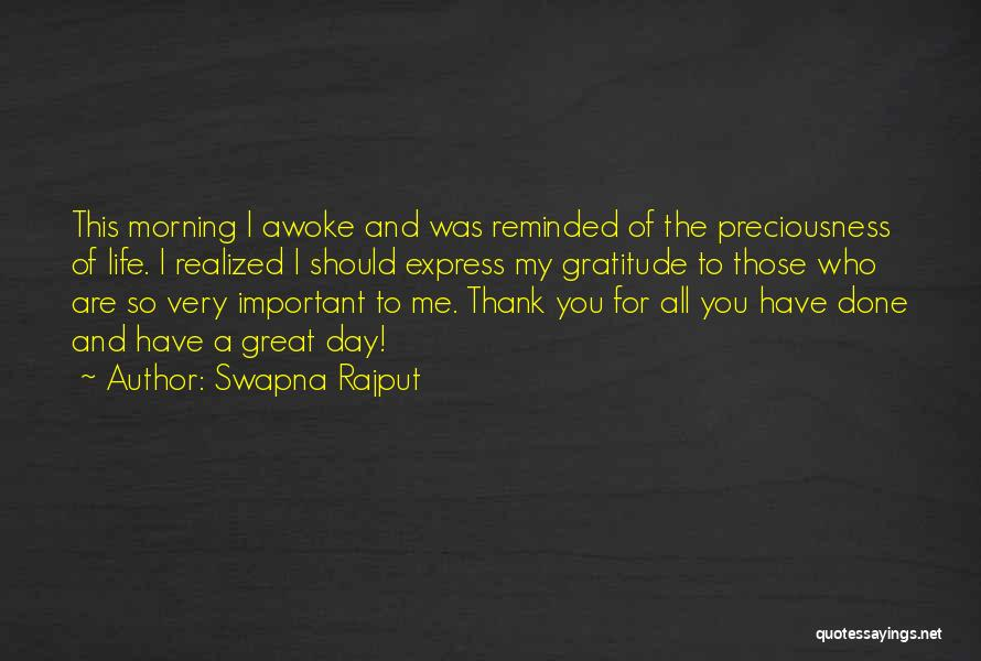 For Morning Quotes By Swapna Rajput