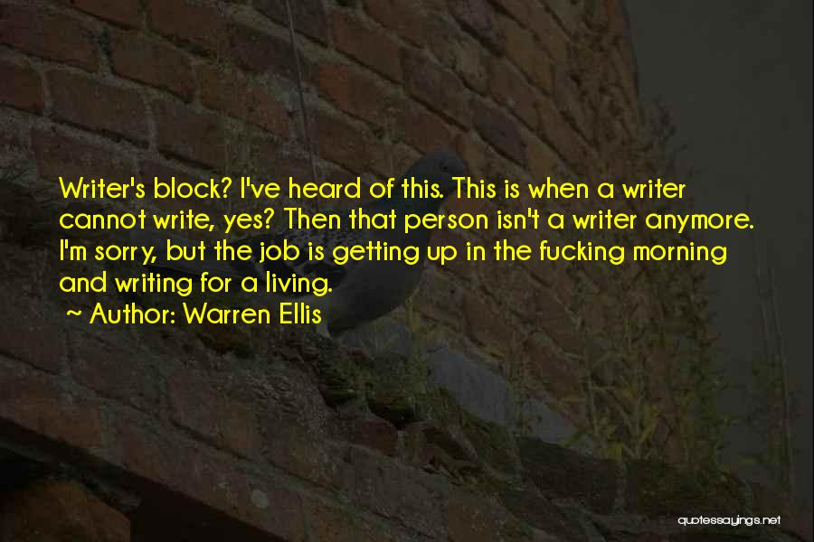 For Morning Quotes By Warren Ellis