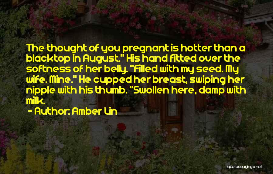 For My Pregnant Wife Quotes By Amber Lin