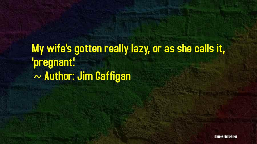 For My Pregnant Wife Quotes By Jim Gaffigan