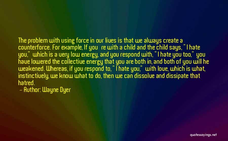 Force In Love Quotes By Wayne Dyer