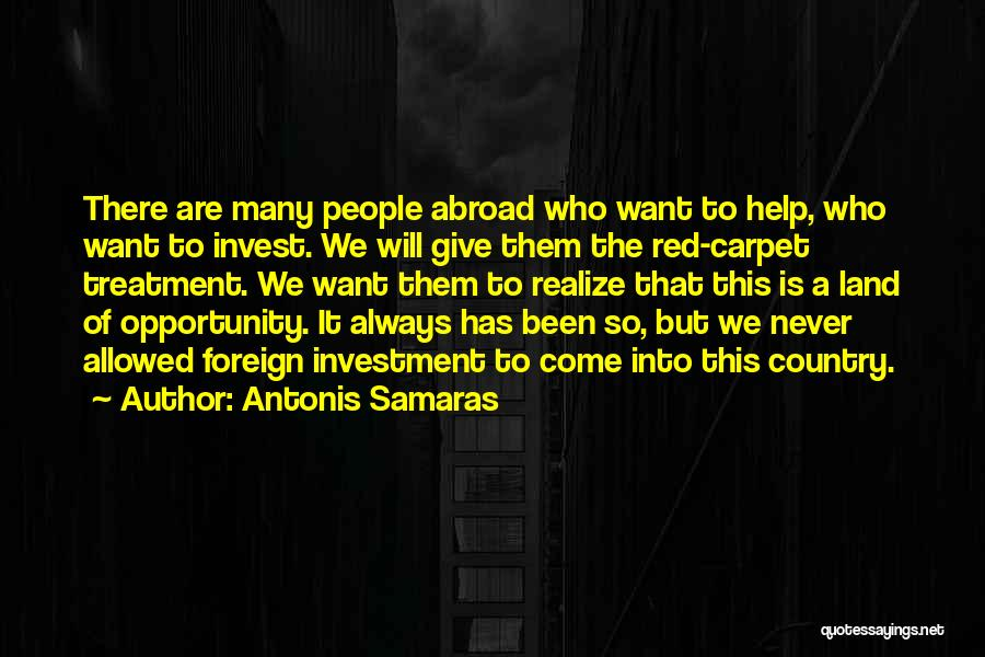 Foreign Investment Quotes By Antonis Samaras