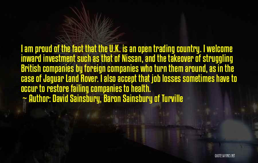 Foreign Investment Quotes By David Sainsbury, Baron Sainsbury Of Turville