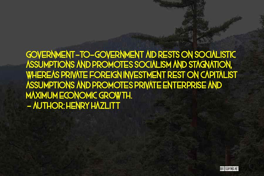 Foreign Investment Quotes By Henry Hazlitt
