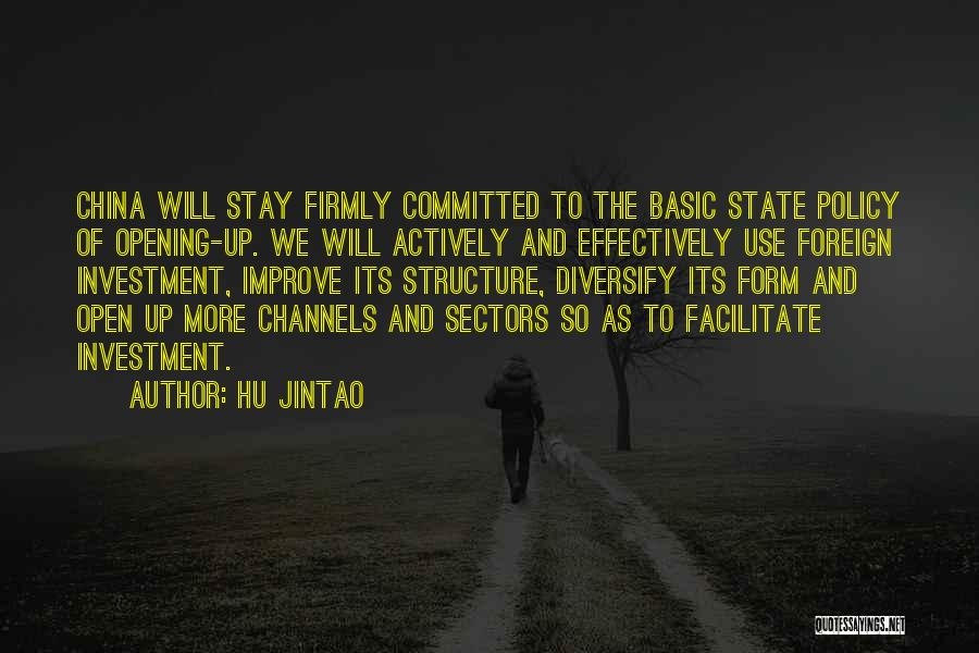 Foreign Investment Quotes By Hu Jintao