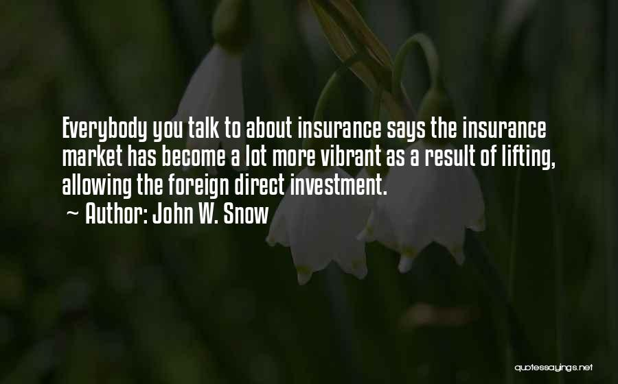 Foreign Investment Quotes By John W. Snow