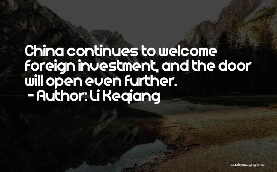 Foreign Investment Quotes By Li Keqiang
