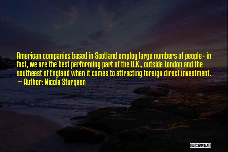 Foreign Investment Quotes By Nicola Sturgeon