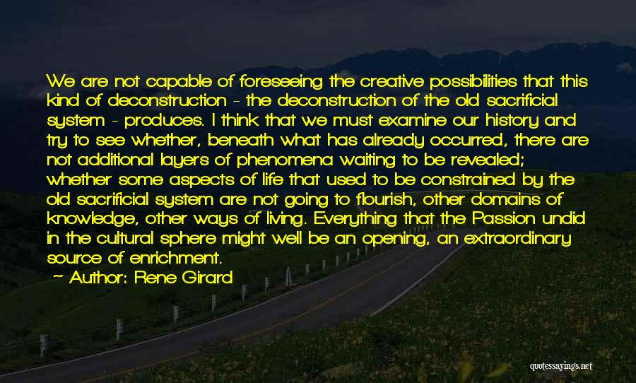 Foreseeing Quotes By Rene Girard