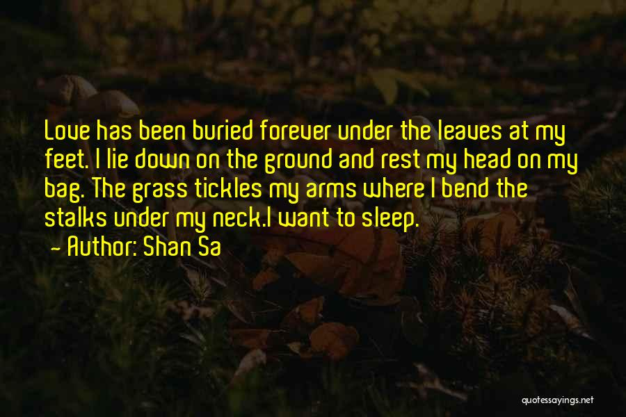 Forever In Your Arms Quotes By Shan Sa