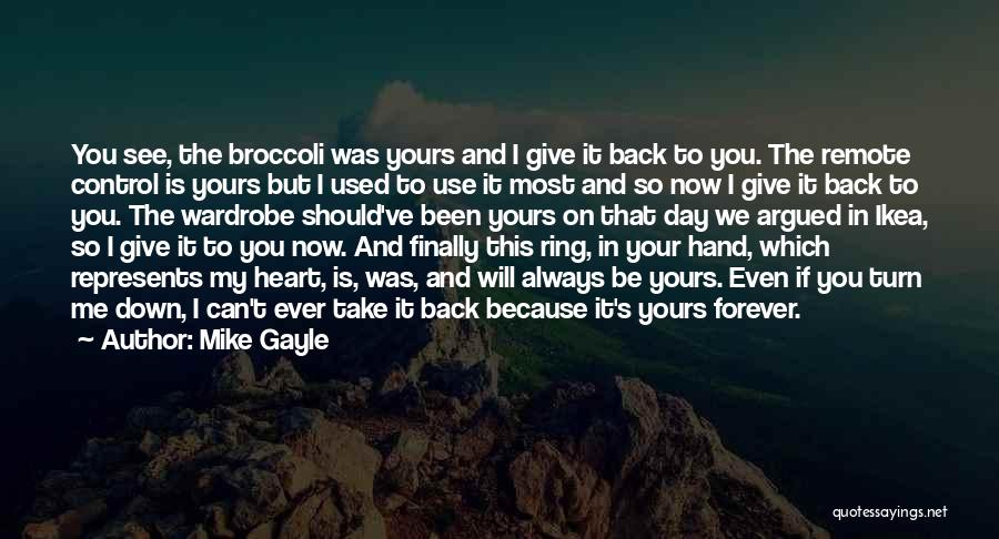 Forever In Your Heart Quotes By Mike Gayle
