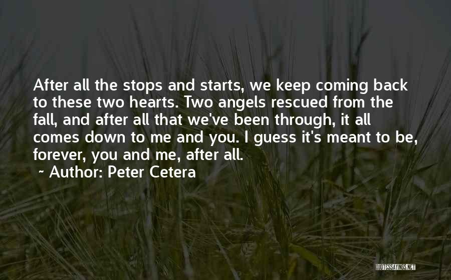 Forever Starts Now Quotes By Peter Cetera