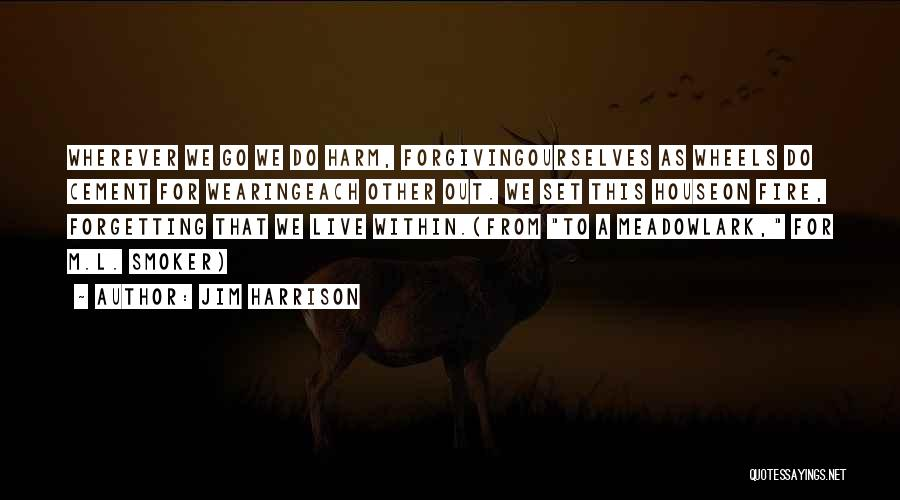 Forgetting And Forgiving Quotes By Jim Harrison