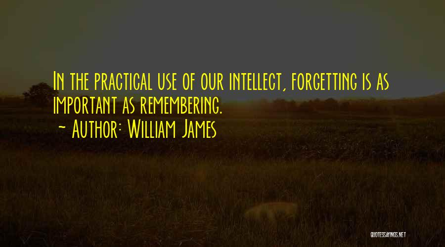 Forgetting Important Things Quotes By William James