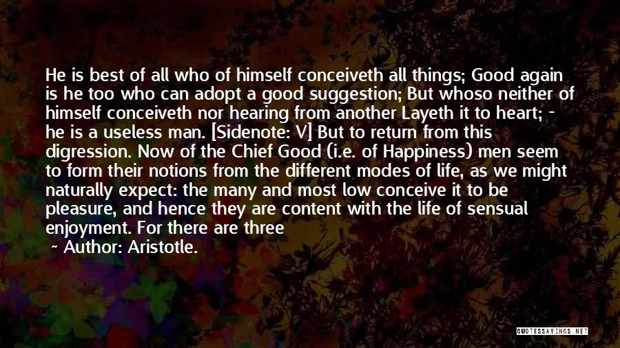 Form Content Quotes By Aristotle.