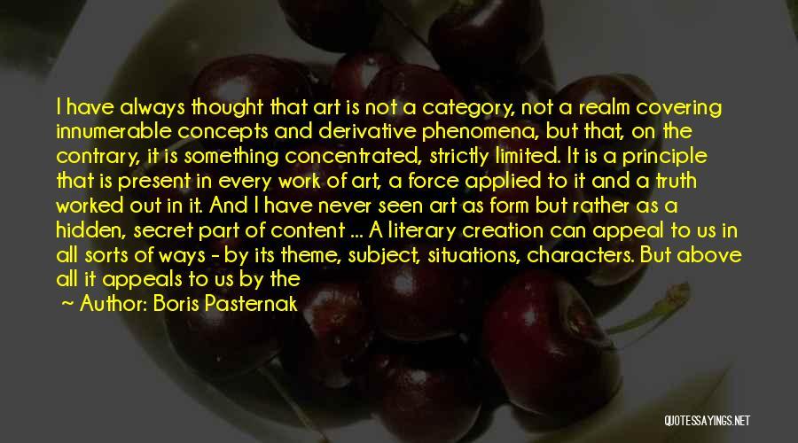 Form Content Quotes By Boris Pasternak