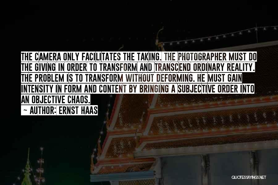 Form Content Quotes By Ernst Haas