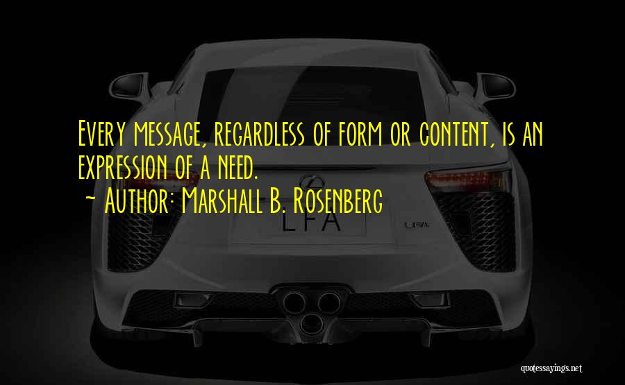 Form Content Quotes By Marshall B. Rosenberg