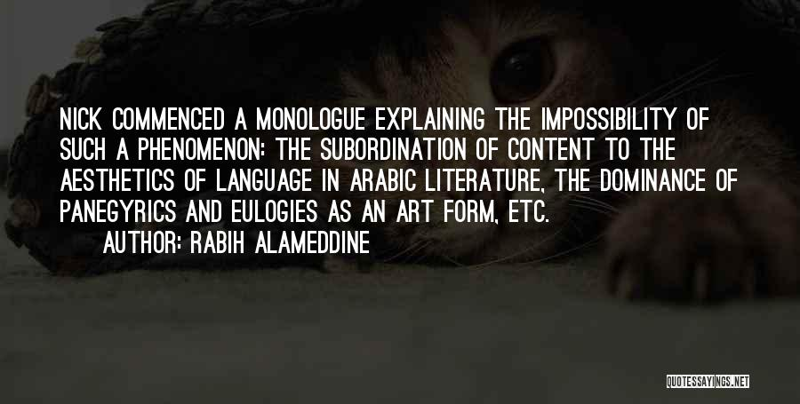 Form Content Quotes By Rabih Alameddine