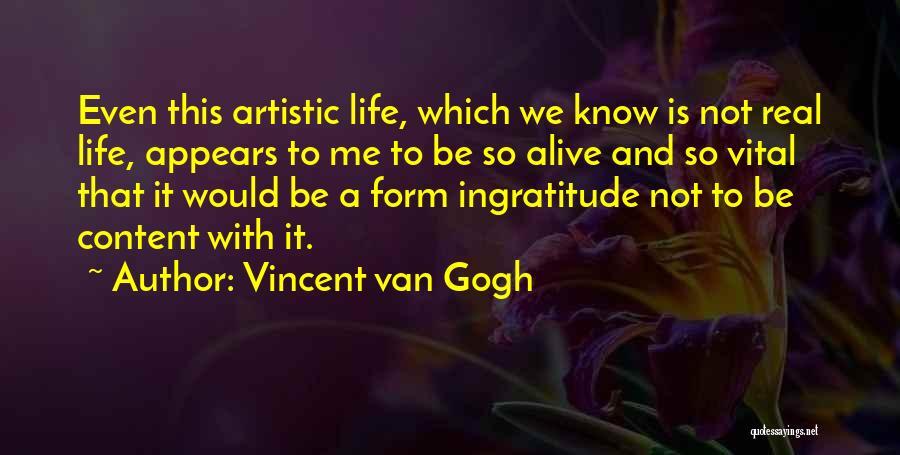 Form Content Quotes By Vincent Van Gogh